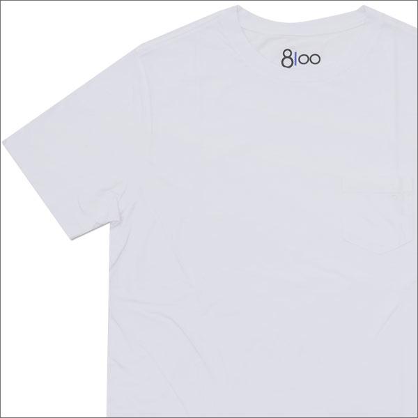 Ron Herman(ロンハーマン) 8100 (エイティーワンハンドレッド) DISTER CREW NECK TEE (Tシャツ) WHITE 200-007145-040x【新品】
