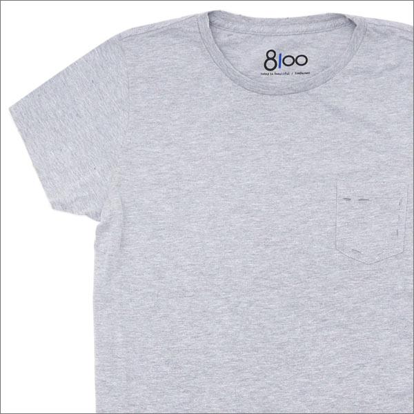 Ron Herman(ロンハーマン) 8100 (エイティーワンハンドレッド) DISTER CREW NECK TEE (Tシャツ) GRAY 200-007169-032x【新品】