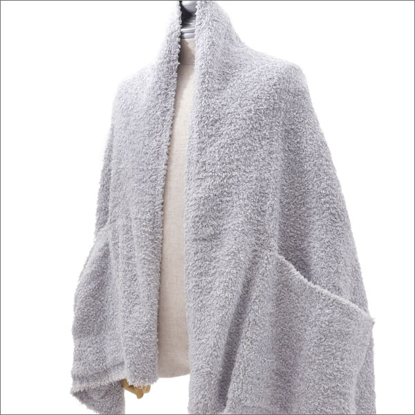 BAREFOOT DREAMS for Ron Herman (ベアフットドリームス ロンハーマン) HEATHERED TRAVEL SHAWL (ショール) OCEAN/OYSTER/WHITE 231-000337-019-【新品】