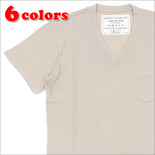 Ron Herman(ロンハーマン) GREEN DYE POCKET V-NECK TEE (Tシャツ) 200-007300-033-【新品】