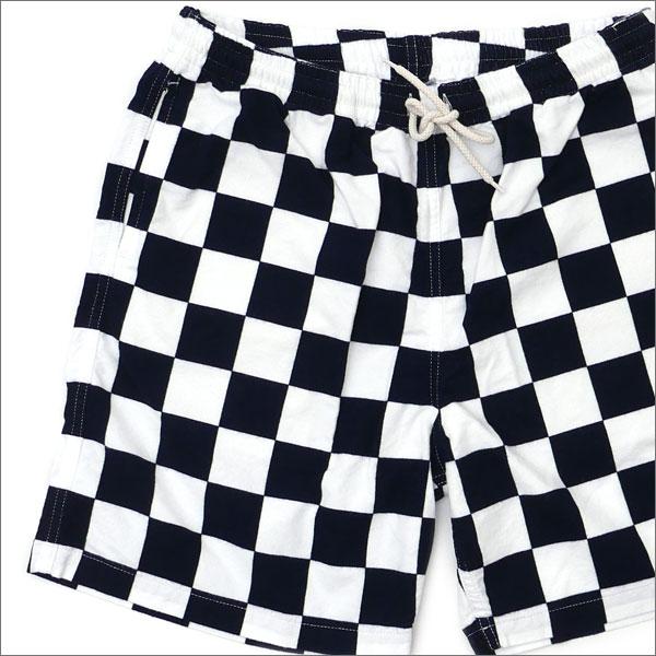 RHC Ron Herman(ロンハーマン) x STANDARD CALIFORNIA (スタンダードカリフォルニア) Checker Shorts (ショーツ) WHITExNAVY 244-000696-037+【新品】