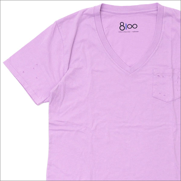 Ron Herman(ロンハーマン) 8100 (エイティーワンハンドレッド) DISTER V NECK TEE (Tシャツ) PURPLE 200-007483-039x【新品】