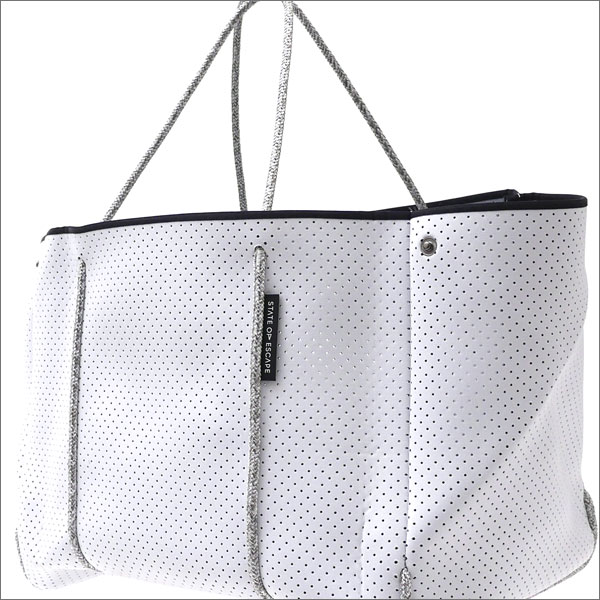 State of Escape(ステイトオブエスケープ) The Escape Tote Bag (トートバッグ) WHITExGRAY 277-002427-013-【新品】 Ron Herman(ロンハーマン)
