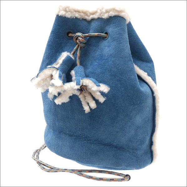 Suede&Boa BLUE 巾着 Ron HAT MASACA ロンハーマン マサカハット 【新品】 x バッグ 277002452014 RHC Drawstring Herman Bag