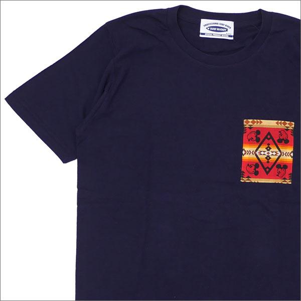 SPECIAL PRODUCT DESIGN(スペシャルプロダクトデザイン) PENDLETON(ペンドルトン) Ron Herman(ロンハーマン) 取り扱い POCKET T-SHIRT (Tシャツ) NAVY 200-007638-037x【新品】