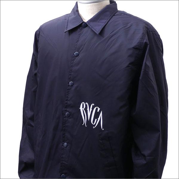RHC Ron Herman(ロンハーマン) x RVCA(ルーカ) x Barry McGee(バリー・マッギー) RVCA COACH JACKET (ジャケット) NAVY 225-000331-047x【新品】