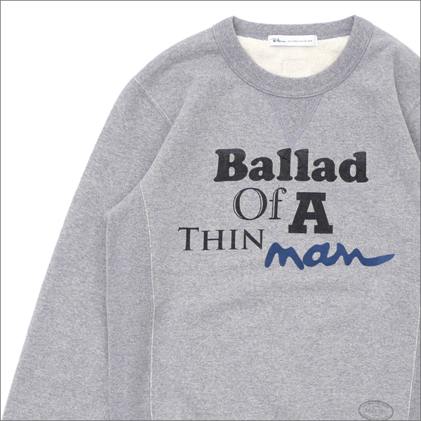 Ron Herman(ロンハーマン) x TANGTANG(タンタン) Ballad of A THIN man SWEAT (スウェット) GRAY 209-000500-032-【新品】