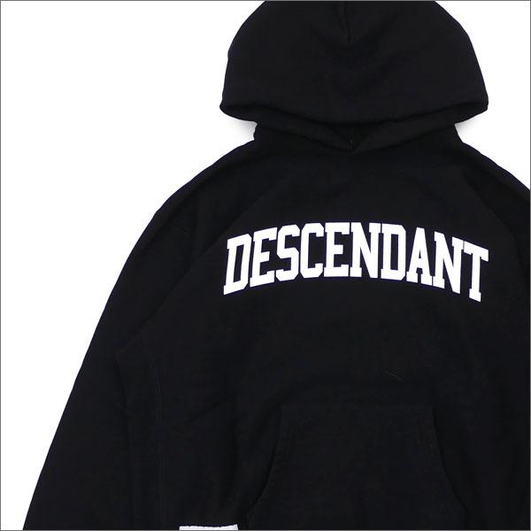 Ron Herman(ロンハーマン) x DESCENDANT(ディセンダント) HOODED SWEATSHIRT (スウェットパーカー) BLACK 211-000528-511+【新品】