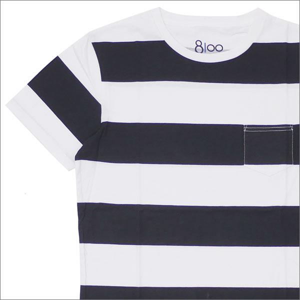 Ron Herman(ロンハーマン) 8100 (エイティーワンハンドレッド) DISTER BORDER TEE (Tシャツ) BLACK 200-007685-041-【新品】