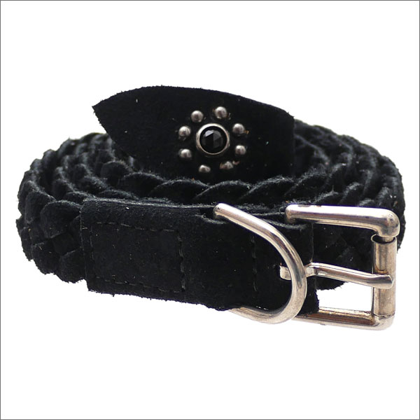 Ron Herman(ロンハーマン) x The Elder Statesman (ジ エルダー ステイツマン) Narrow Braided Belt (ベルト) BLACK 284-000397-011-【新品】