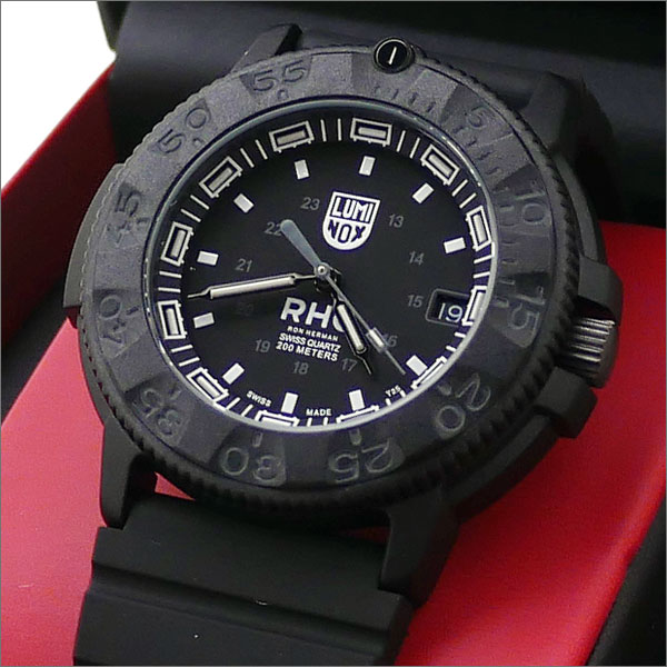 RHC Ron Herman(ロンハーマン) x LUMINOX(ルミノックス) NAVY SEALS 3001.BO WATCH (腕時計) BLACK 287-000209-011x【新品】