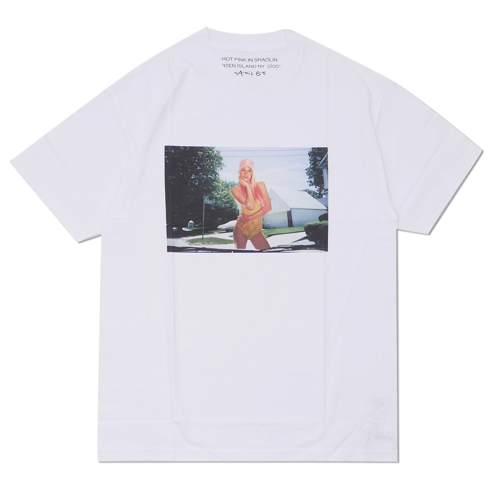 Ron Herman (LONDON HEARTS man) HOT PINK IN SHAOLIN Photo TEE (T-shirt) WHITE 200-007714-050-