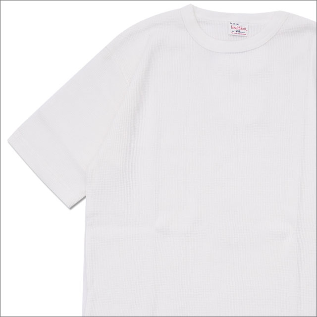 Ron Herman(ロンハーマン) x Healthknit(ヘルスニット) Thermal S/S Tee (Tシャツ) WHITE 203-000274-040-【新品】