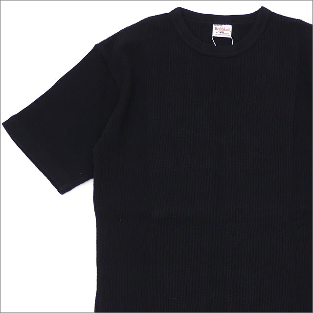 Ron Herman(ロンハーマン) x Healthknit(ヘルスニット) Thermal S/S Tee (Tシャツ) BLACK 203-000274-031-【新品】