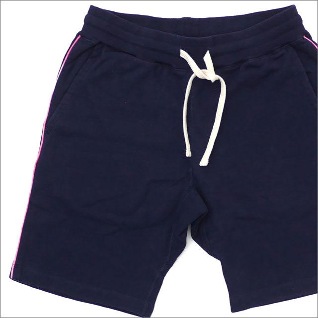 Ron Herman(ロンハーマン) x Healthknit(ヘルスニット) Piping Sweat Shorts (スウェットショーツ) NAVY 244-000745-037x【新品】