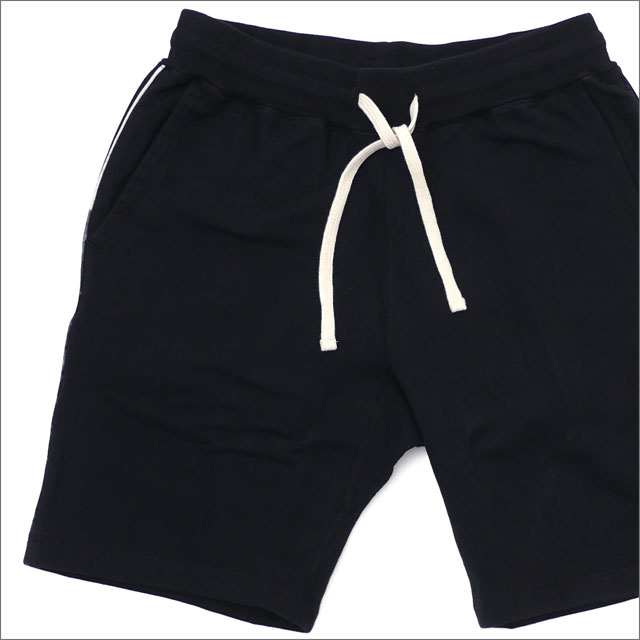 Ron Herman(ロンハーマン) x Healthknit(ヘルスニット) Piping Sweat Shorts (スウェットショーツ) BLACK 244-000745-041x【新品】