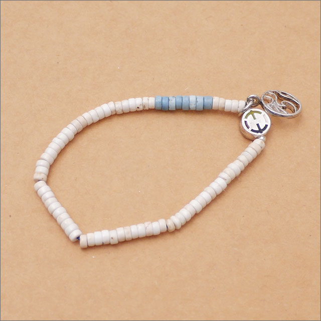 EQUALIZE(イコライズ) Ron Herman(ロンハーマン) 取り扱い Wave Bead Bracelet (ブレスレット) WHITE 269-000343-010+【新品】