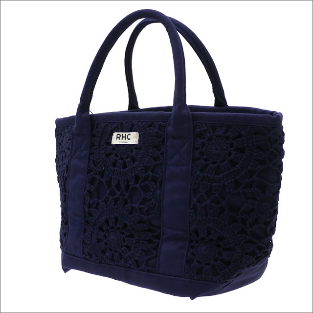RHC Ron Herman(ロンハーマン) LACE TOTE BAG (トートバッグ) NAVY 277-002500-017+【新品】