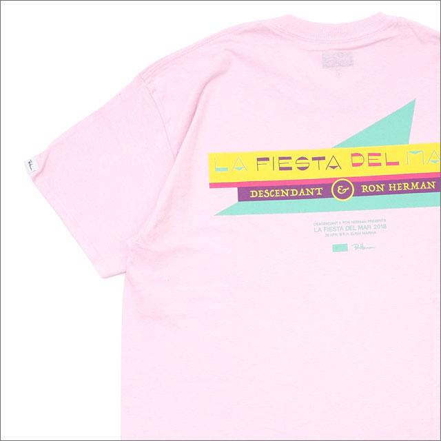 Ron Herman(ロンハーマン) x DESCENDANT(ディセンダント) LA FIESTA DEL WAR/CREW NECK SS(Tシャツ) PINK 200-007822-513+【新品】WTAPS(ダブルタップス)
