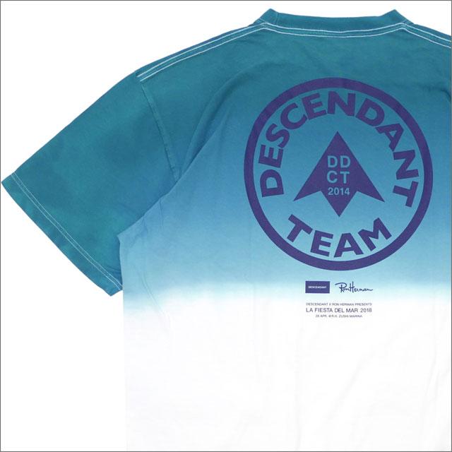 【サマーセール2018!! 7/30(月) 20:00~販売開始!!】 Ron Herman(ロンハーマン) x DESCENDANT(ディセンダント) TEAM/TIE DYE SS(Tシャツ) TEAL 200-007823-514+【新品】WTAPS(ダブルタップス)