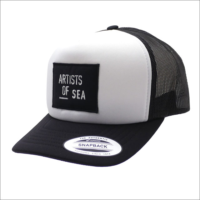 Ron Herman(ロンハーマン) Artists Of Sea Mesh Cap (キャップ) BLACKxWHITE 251-001266-010x【新品】