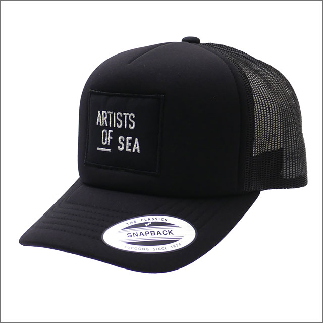 Ron Herman(ロンハーマン) Artists Of Sea Mesh Cap (キャップ) BLACK 251-001266-011x【新品】