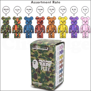 A BATHING APE (エイプ) xMEDICOM TOY 100% BE @ RBRICK (베어 브릭) 단품 판매 183-000135