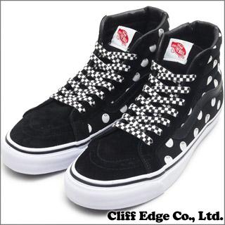 STUSSY x VANS SK8-Hi OG LX (스케이트 하이) (신발) (운동 화) Black/8 Ball/White (BlackxBlack) 291-001581-281x