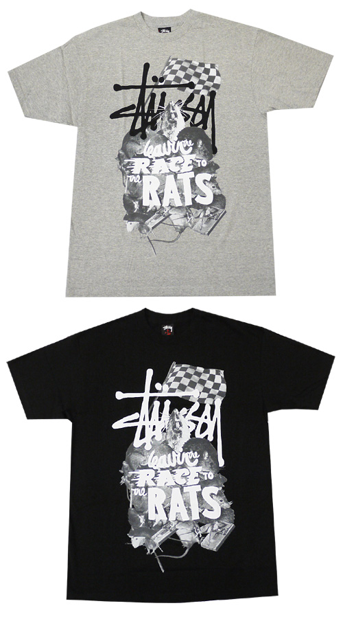 STUSSY (ステューシー) RATS T-shirt 200-002734-041 [place of our store normal price 9,240 yen]
