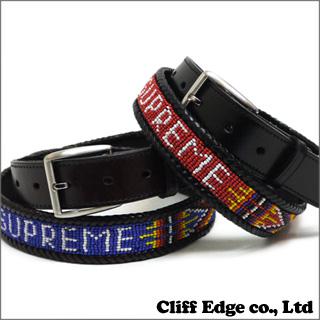 SUPREME Leather Beaded Belt [벨트] BLACK/BROWN 284-000278-031-