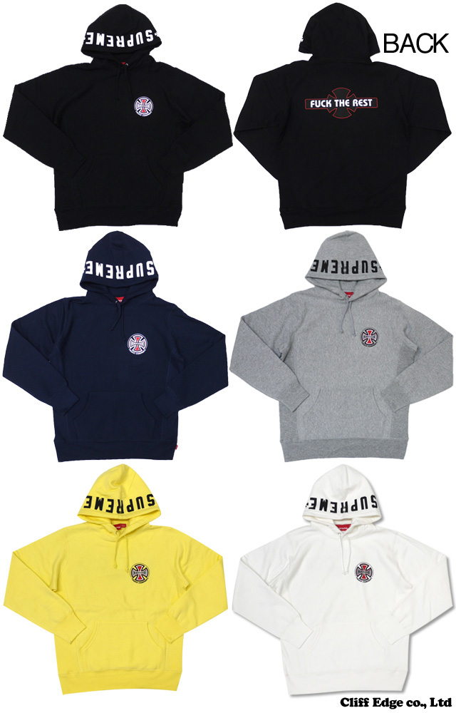 SUPREME x Independent Pullover 파커 5 칼라211-000233-037-