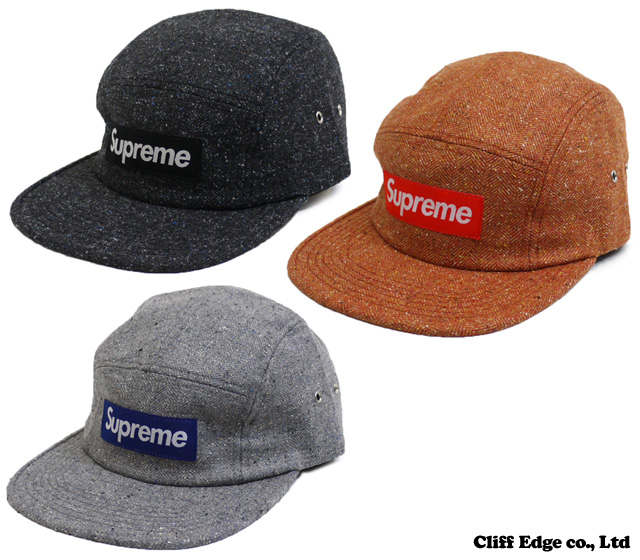 SUPREME Herringbone Donegal Camp Cap [캡] BLACK/ORANGE/GRAY 265-000276-012-