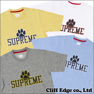 SUPREME Paw Logo Crew T shirt 4 color 209 - 000240 - 032-