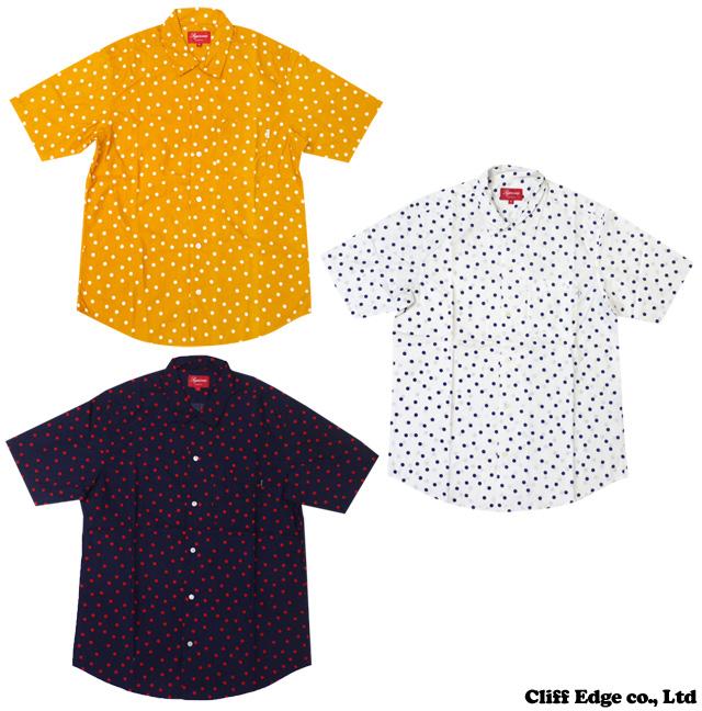 SUPREME Big Dot Camp short sleeve shirt ORANGE/WHITE/NAVY 215-001087-040-