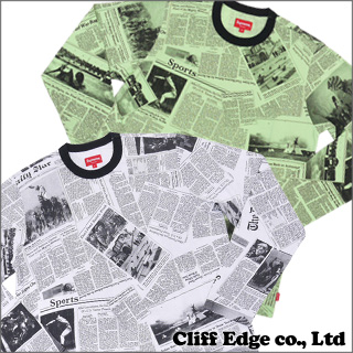 SUPREME Newspaper long sleeve T shirt 202-000530-050-