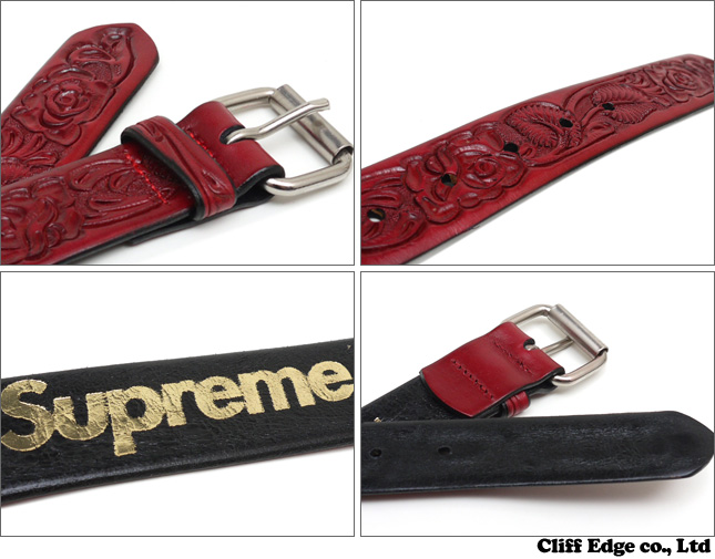 SUPREME Rose Leather 벨트290-002231-033-