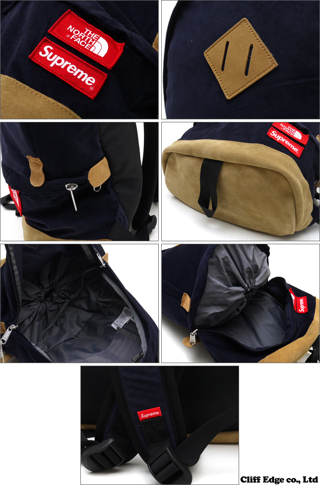SUPREME x THE NORTH FACE Corduroy Medium Daypack [배낭] NAVY 276-000167-017 177-000479-017 +