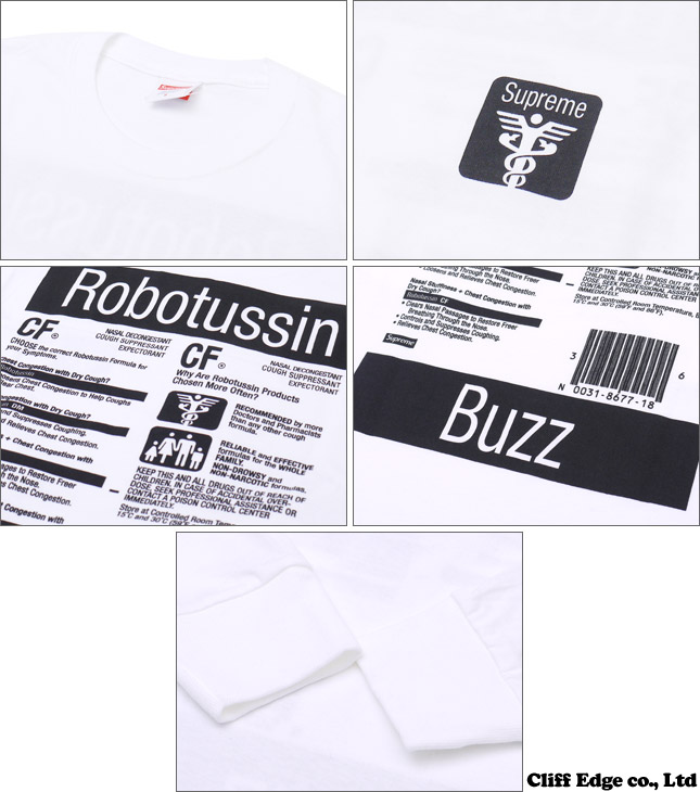SUPREME Tussin L/S Tee [긴소매 T셔츠] 202-000582-041-