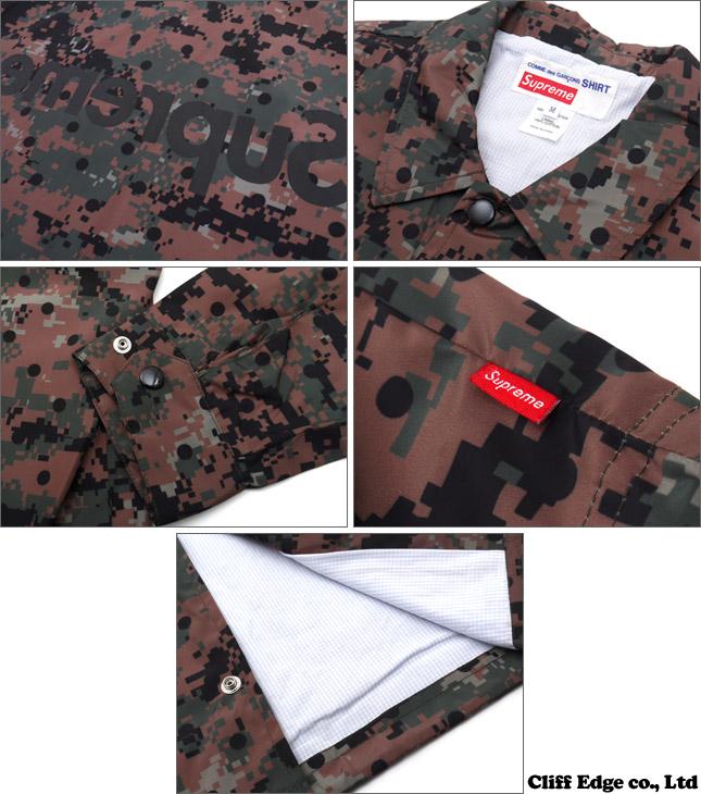 SUPREME x COMME des GARCONS SHIRT Coaches Jacket [코치 자 켓] OLIVE 225-000170-045 +