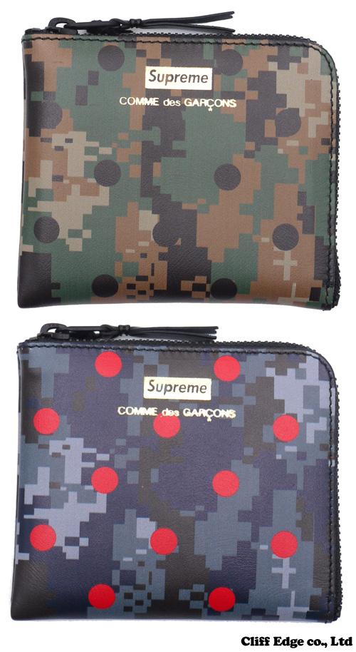 SUPREME x COMME des GARCONS SHIRT Wallet [지갑] 272-000135-017 +
