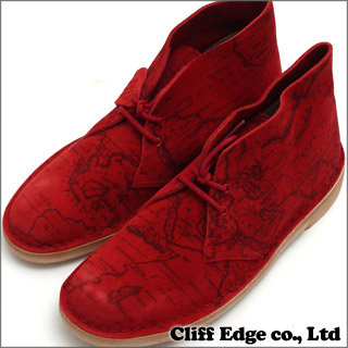 SUPREME x Clarks Map Suede Desert Boot [디저트 부츠] RED 293-000147-283-