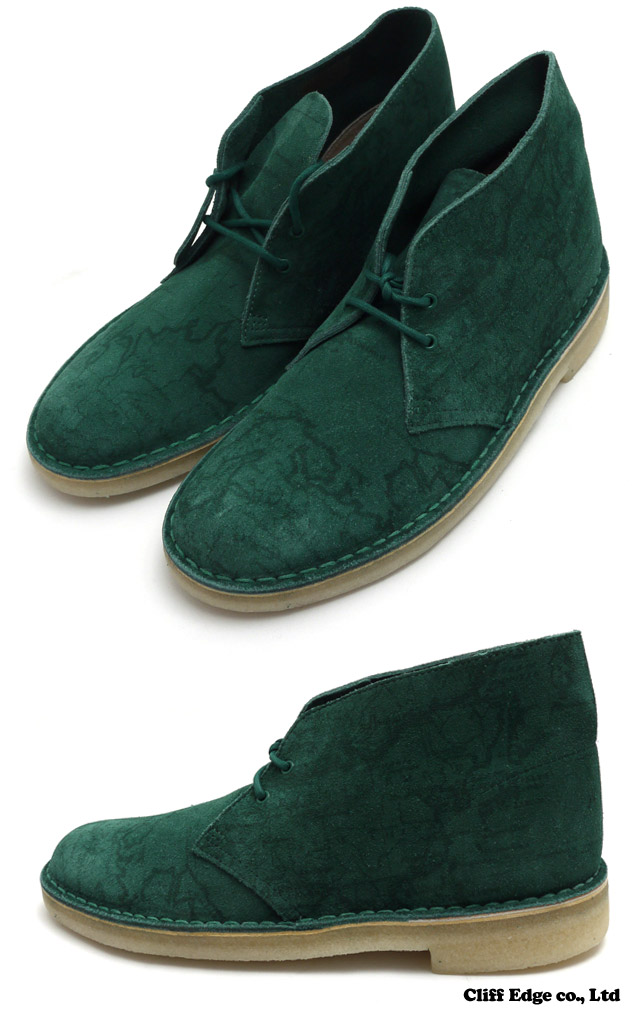 SUPREME x Clarks Map Suede Desert Boot TEAL 293-000147-264-