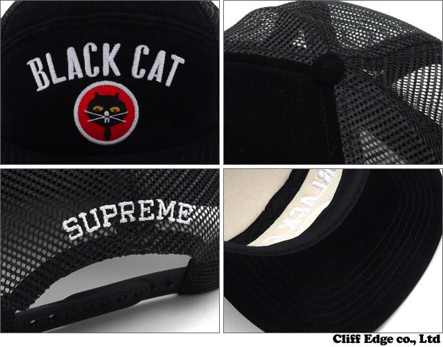 SUPREME Black Cat Military Mesh Back (캡) BLACK 251-000707-011 x