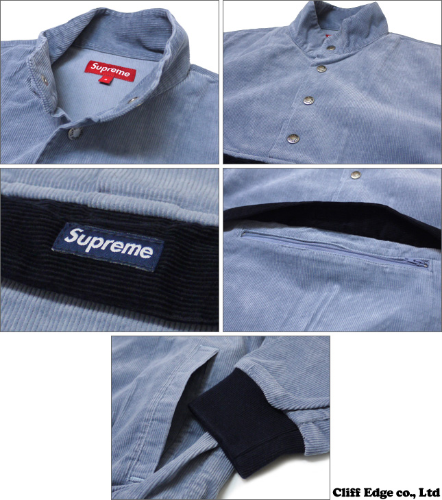 ▼SUPREME Corduroy Pullover [풀오버 재킷] LT BLUE/RED/TAN 211-000228-046-