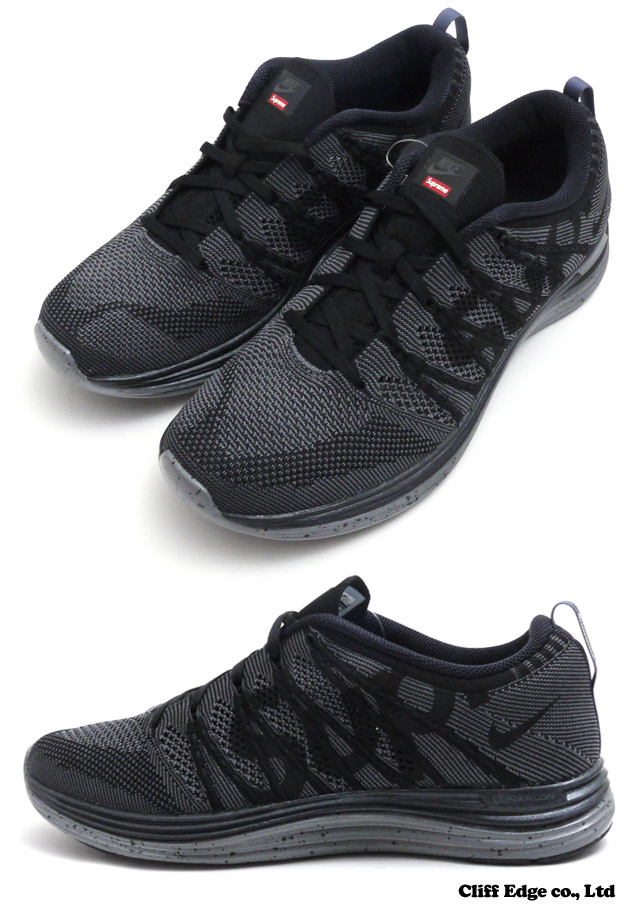 56b9af0b428fa ... new zealand supreme x nike flyknit lunar 1 luna shoes sneakers 291  001397 black 291 623823