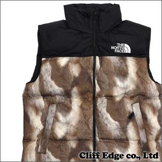 SUPREME x THE NORTH FACE Fur Print Nuptse Vest (다운 베스트)(재킷) BROWN 207-000133-039+