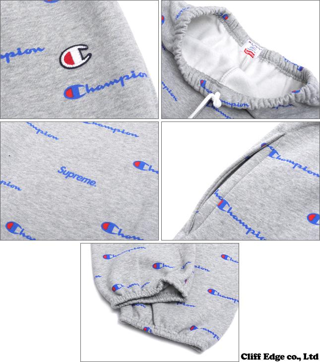 SUPREME x Champion Sweats Pants (스웨트 팬츠) GRAY 243-000085-032x
