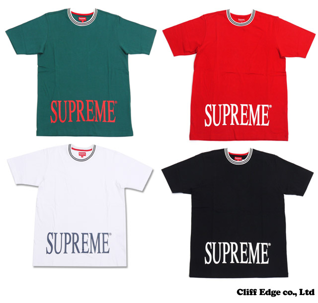 SUPREME Striped Rib Tee (T셔츠) 200-005930-030 x