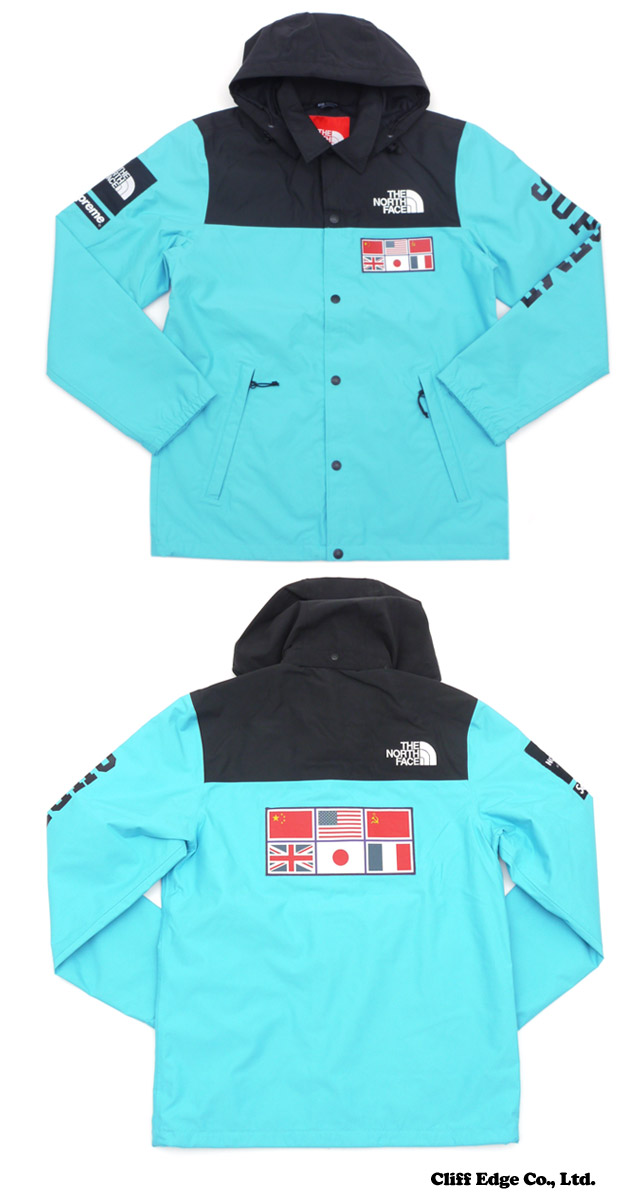 SUPREME x THE NORTH FACE Expedition Coaches Jacket (coach jacket) TEAL 225-000182-034+