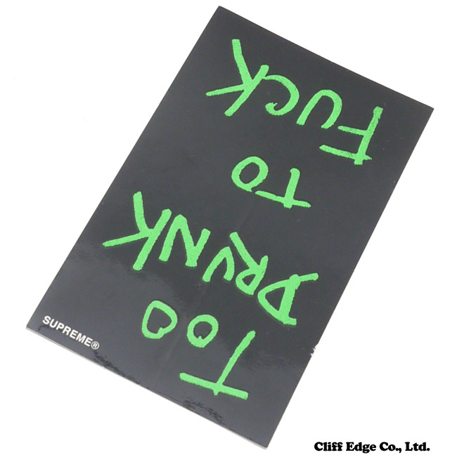 SUPREME (슈 프림) x Dead Kennedys Too Drunk Too Fuck Sticker (스티커) 290-003035-011 +